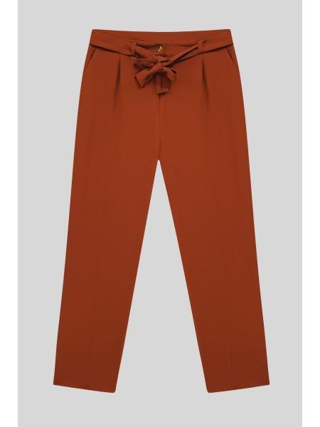 Belt Pants  -Brick color