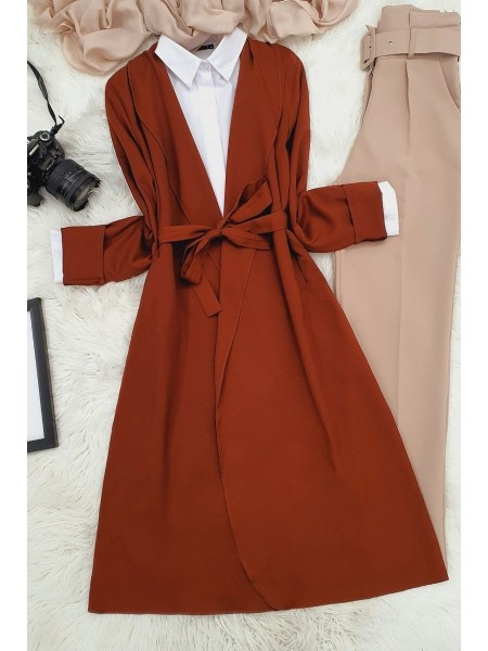 Belted Cape -Brown
