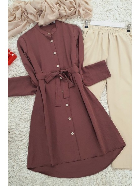 Connected Tunic -Dried rose