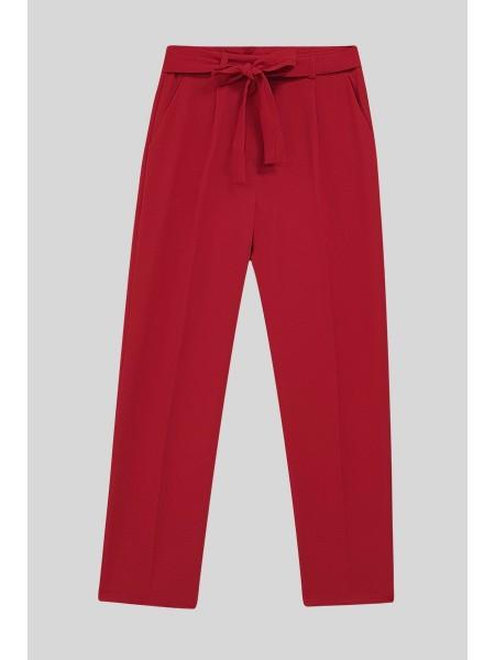 Belt Pants -Red