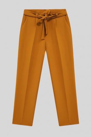 Kemerli Bilek Pantolon    -Taba