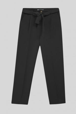 Kemerli Bilek Pantolon -Siyah