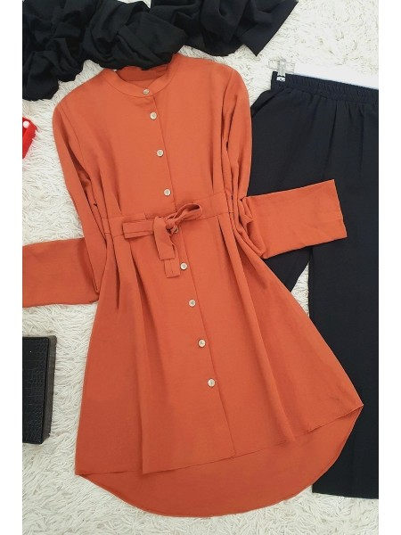 Connected Tunic -Brick color