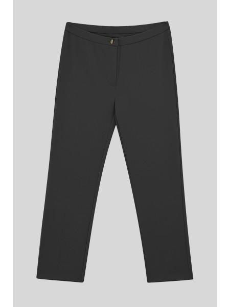 Likralı Duble Kumaş Pantolon -Black