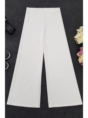 High Waist Trousers   -White