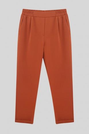 Beli Lastikli Pantolon         -Açık Kiremit