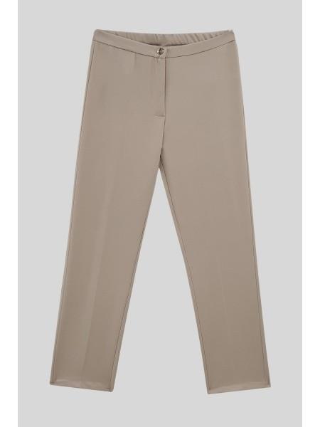 Likralı Duble Kumaş Pantolon -Mink color
