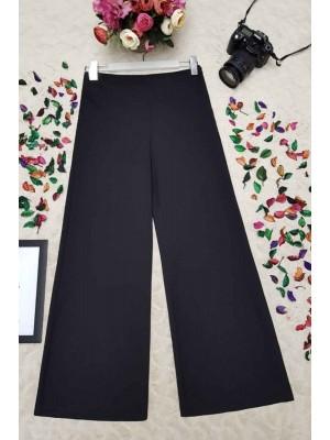 High Waist Trousers  -Black