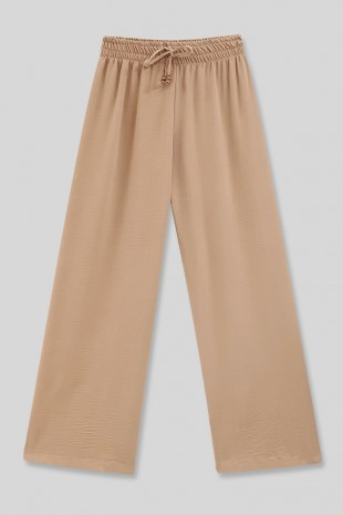 Beli Lastikli Salaş Ayrobin Pantolon -Taş