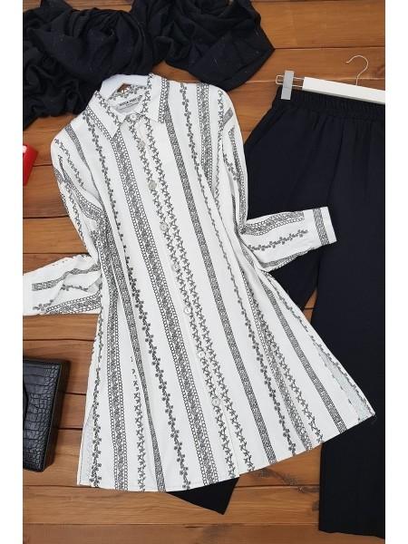 Slit Shirt -White