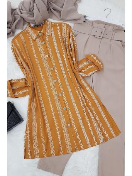 Slit Shirt -Mustard