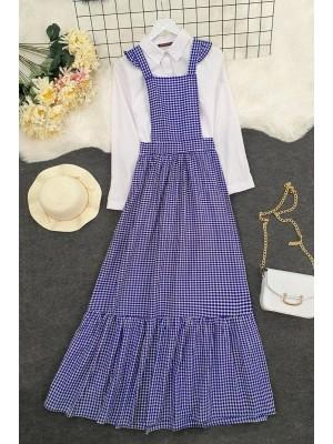 Gardener Long Dress -İndigo