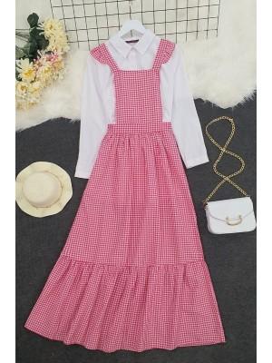 Gardener Long Dress -Red