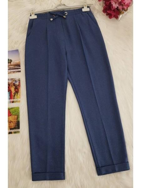 Belted Carrot Pants -İndigo