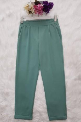 Beli Lastikli Pantolon       -Mint