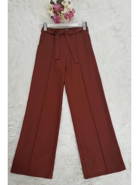 Belted Pants   -Brick color