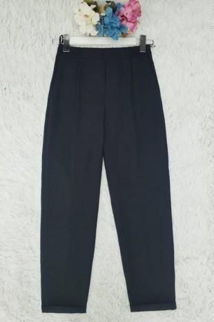 Beli Lastikli Pantolon -Siyah