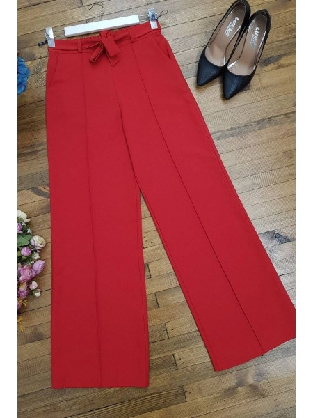 Belted Pants      -Red