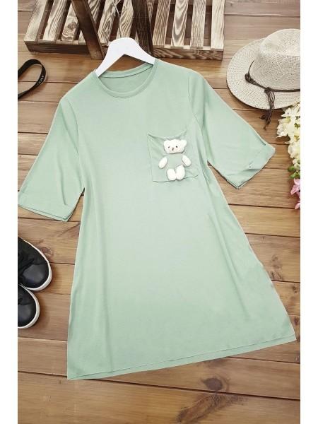 Bear Short Sleeve Shirt -Green