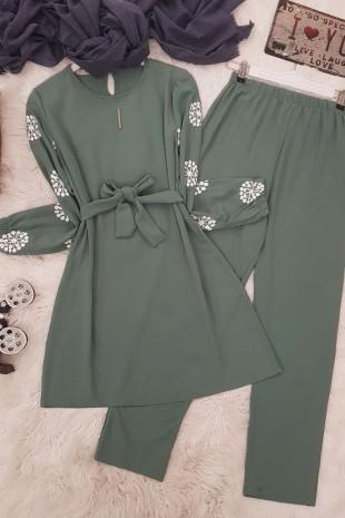Kol Baskılı Ayrobin Takım -Yeşil