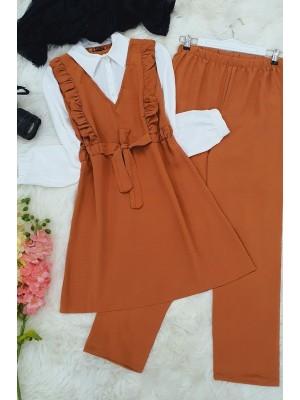 Shirt Garnish Ayrobin Set  -Cinnamon