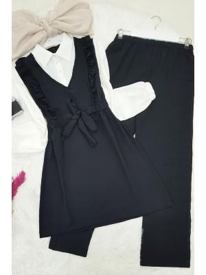Shirt Garnish Ayrobin Set -Black