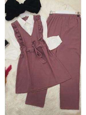 Shirt Garnish Ayrobin Set -Dried rose