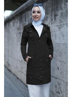 Pocket Denim Jacket -Black