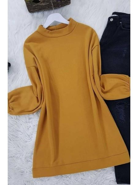 Balloon Sleeve Fleece -Mustard