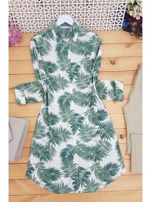Palm Leaf Tunic -Green