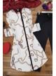 GG Chain Print Shirt -Ecru