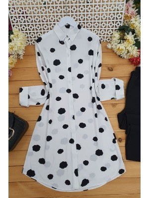 Big Spotted Tunic -White