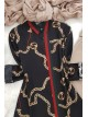 GG Chain Print Shirt -Black