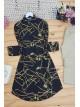 Tassel Printed Tunic -Black
