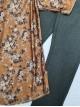 Floral Printed Half Button Diagonal Tunic  -Cinnamon