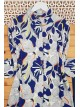 Big Leaf Patterned Tunic  -Saxe