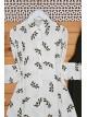 Leaf Patterned Shirt -Ecru
