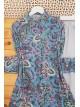 Mixed Pattern Tunic -Blue