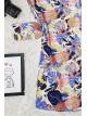 Floral print tunic -Blue