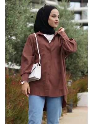 Pocket Shirt  -Brown