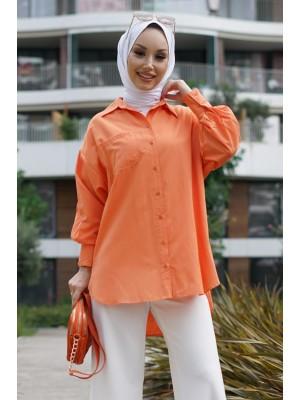 Pocket Shirt  -Orange