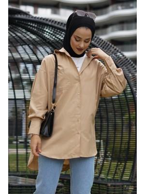 Pocket Shirt  -Mink color