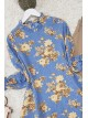 Gathered Collar Frilly Tunic -Blue