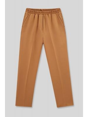 Pocket Elastic Waist Trousers  -Cinnamon