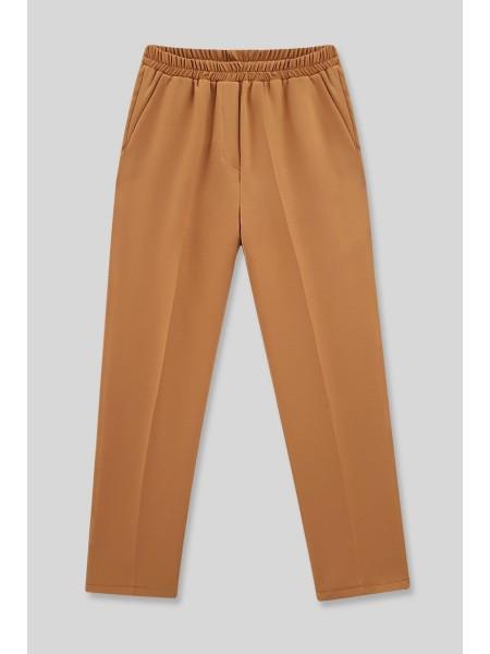 Cepli Beli Lastikli Pantolon  -Tarçın