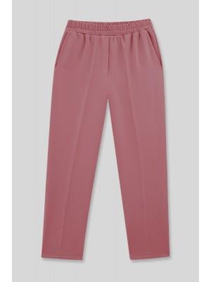 Pocket Elastic Waist Trousers   -Dried rose