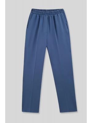 Pocket Elastic Waist Trousers  -İndigo
