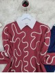 Embroidered Knitwear Tunic -Pink