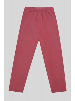 Knit Trousers With Slit Trousers -Pink