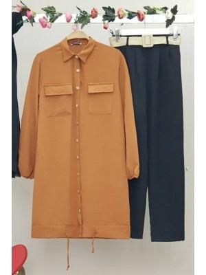 Double Pocket Shirt -Snuff